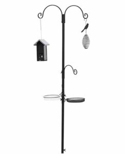 Perky-Pet Deluxe Wild Bird Feeding Station with Two Bird Feeders for the Garden - All metal, Rust Resistant, 2 m Tall #ML038B